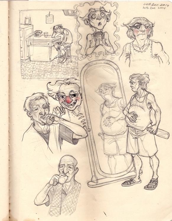 Men sketch studies pet project - sksk270 | ello