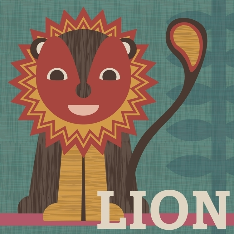Stylised lion vector (including - tashagoddard | ello