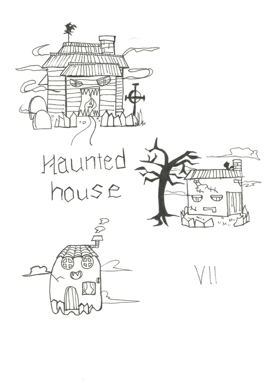 Lineart 07 Haunted House - illustration - hotshots2000 | ello