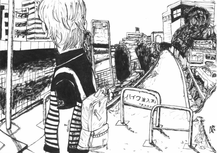 Oyasumi Punpun FanArt Ink - illustration - aitorc2 | ello