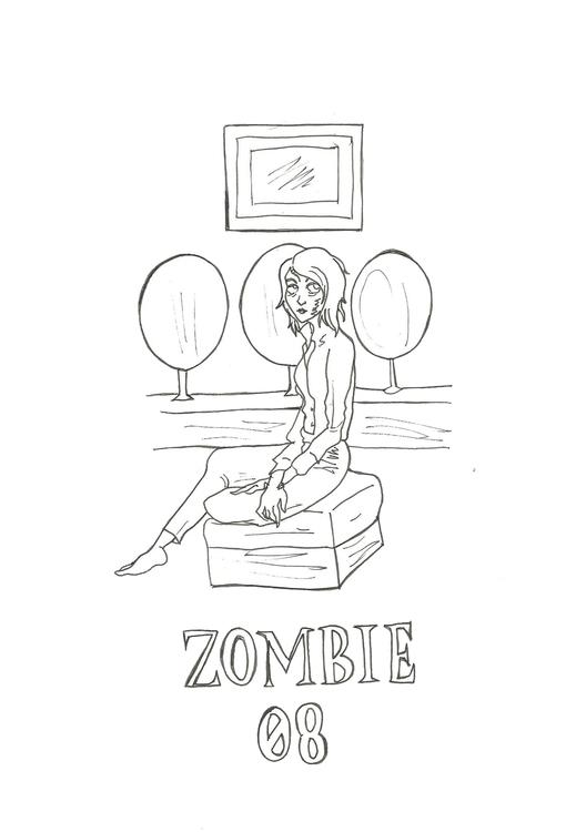Lineart 08 Zombie - illustration - hotshots2000 | ello