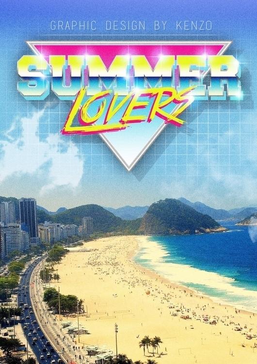 [SUMMER LOVER - 80s, summer, beach - kenzoart | ello