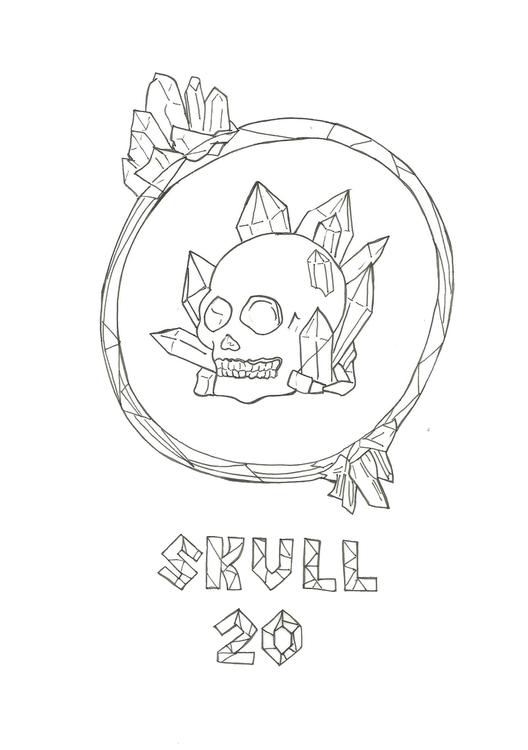 Lineart 20 Skull - illustration - hotshots2000 | ello