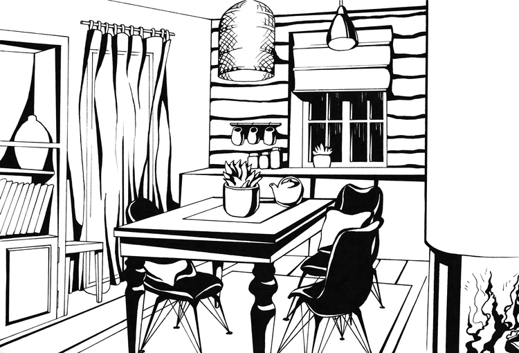 illustration, blackandwhite, graphic - hanna-1284   ello