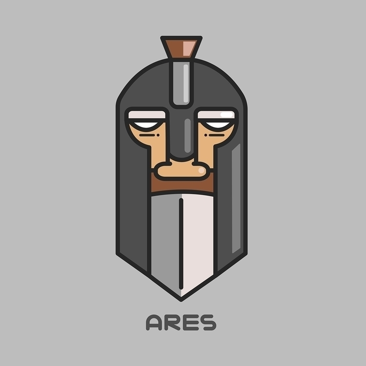 Ares - illustration, design, greek - rustamization | ello