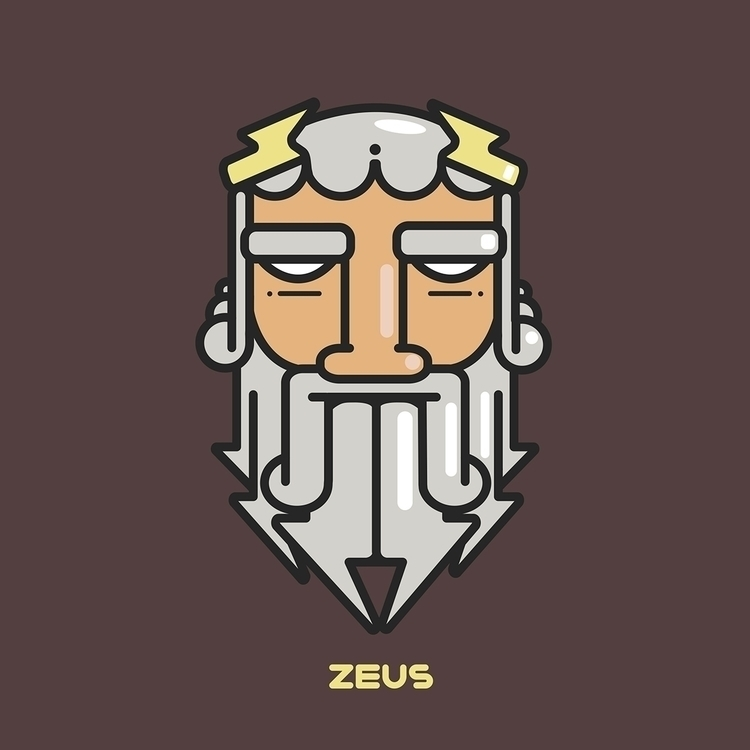 Zeus - greek, god, zeus, bolt, illustration - rustamization | ello