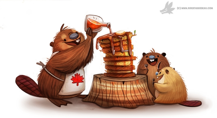 Daily Painting Happy Canada Day - piperthibodeau | ello