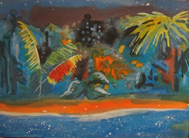 jungle, night, ink, illustration - vitacalm | ello