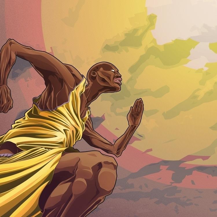 sports, runner, illustration - farsa | ello