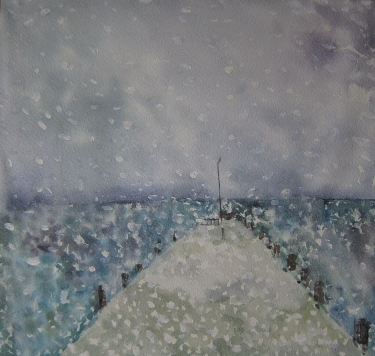 winter, snow, sea, illustration - vitacalm | ello