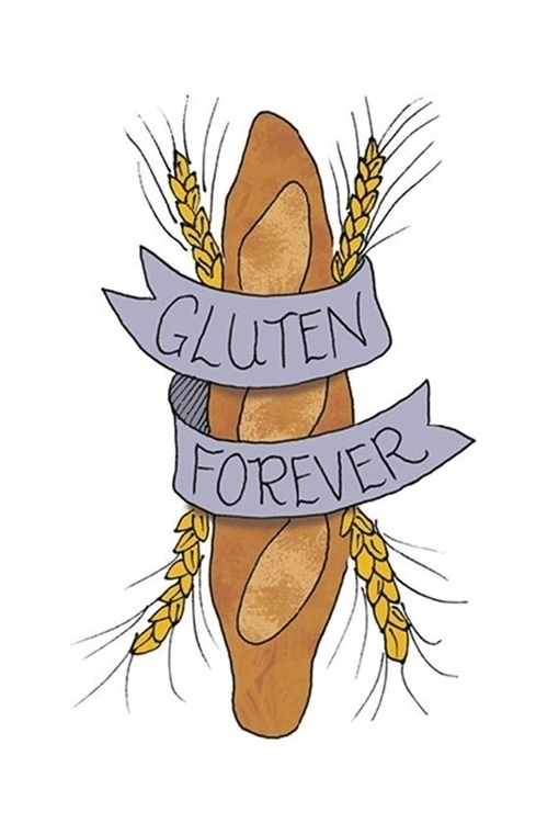 Gluten Foodietoo design tempora - nancydraws | ello