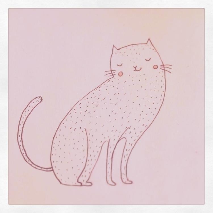 cat, character, sketch, drawing - zizilka | ello
