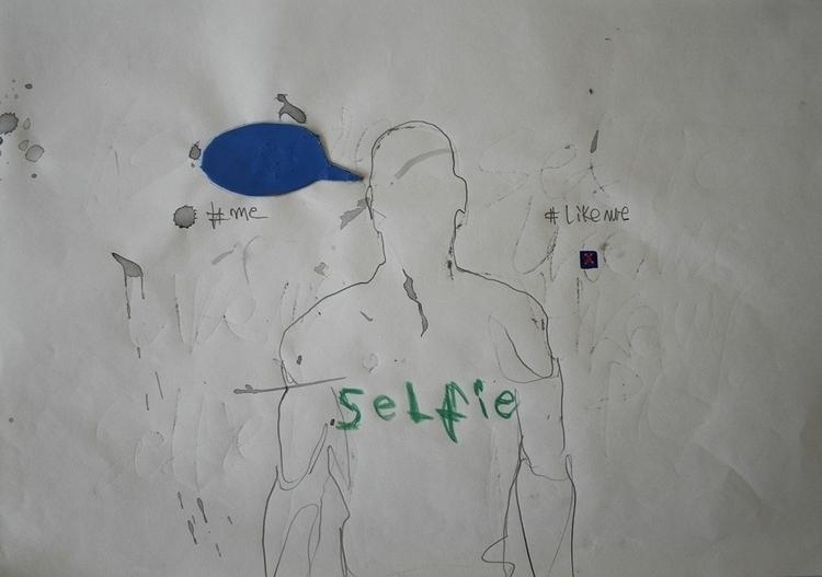 ,,Selfovanje 11.''; mixed media - ivanmitic | ello