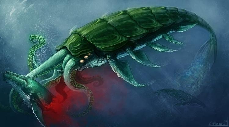 Chitinous Cetalopod Personal pi - celestialartistry | ello