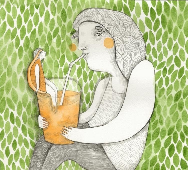 Friendly orange-girl - illustration - msarte | ello