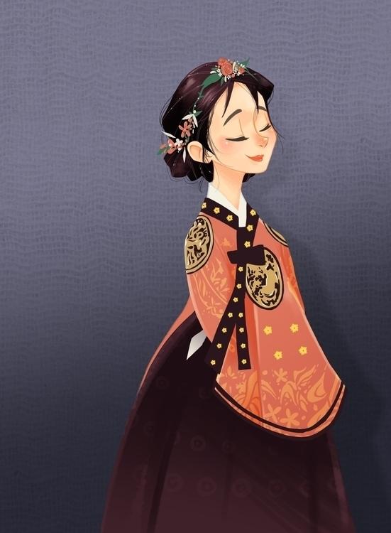 Hanbok Series - illustration, characterdesign - theartofjoannepoon | ello