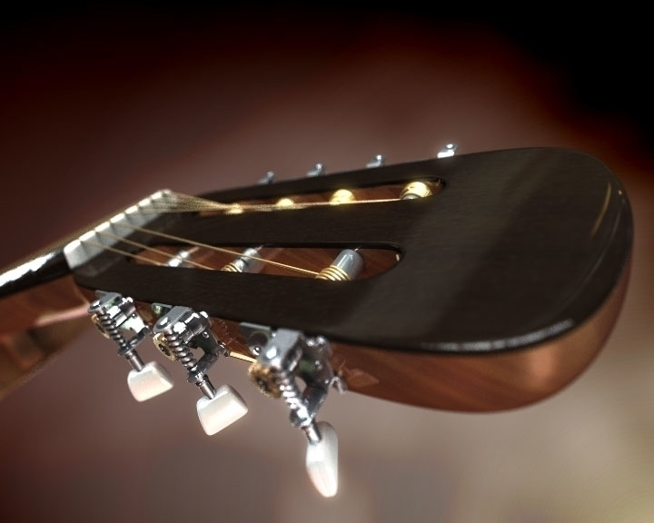 3d model Guitar - 3dmodel, guitar - worontzoff | ello