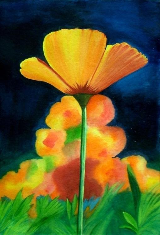 FLOWERING BEAUTY- unique art, n - neeruart | ello