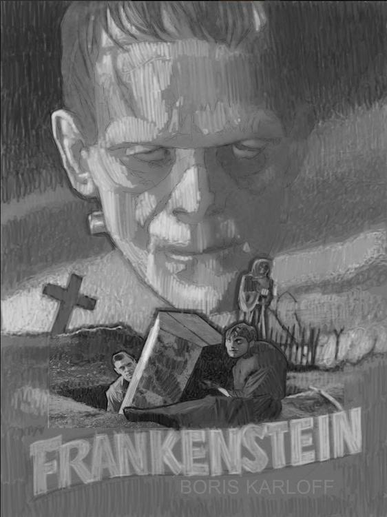 Frankenstein 1931 Tribute Poste - dwrobins2000 | ello