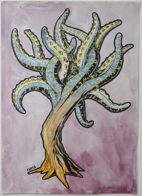 illustration, tree, tentacles - farsa | ello