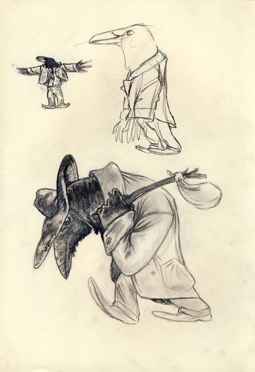 sketch, drawing, crowpeople - ewan-9578 | ello