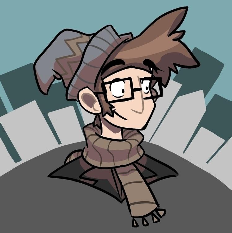 November avatar social medias - illustration - dustlight_ | ello