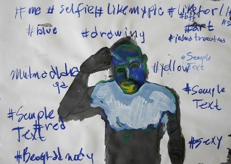 ,,Selfovanje 39.''; mixed media - ivanmitic | ello
