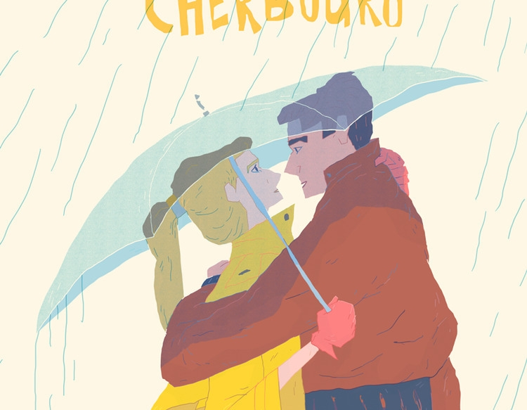 Closeup poster design Umbrellas - austineustice | ello