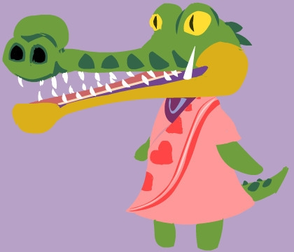 Quick drawing gharial style Ani - erickwc | ello