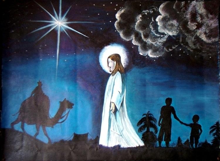 JESUS- unique art . original cr - neeruart | ello