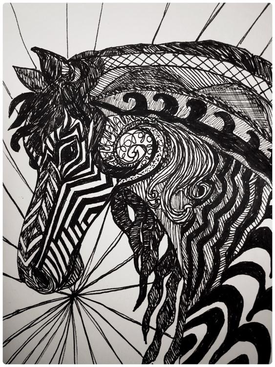 Tangled Horse - carolinelifshey | ello