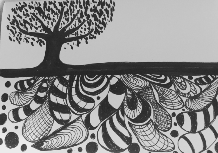 Zen tangled - carolinelifshey | ello