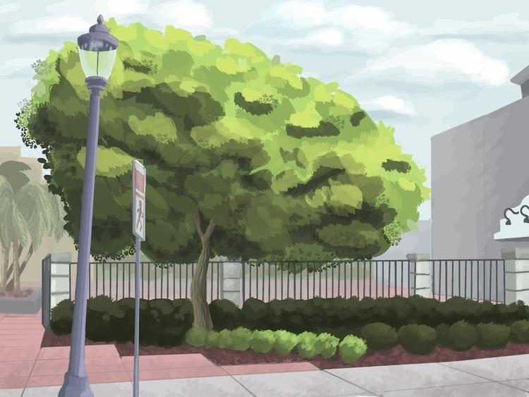 Landscape Sketch Ringling Colle - cmarling | ello
