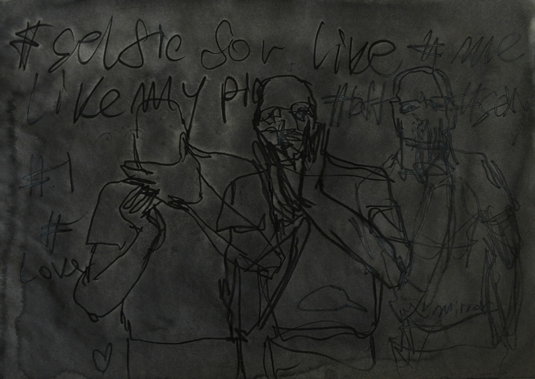 ,,Selfovanje 62.''; ink paper;  - ivanmitic | ello