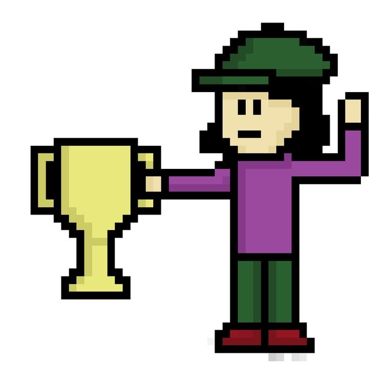 Achievement - pixelart, characterdesign - hotshots2000 | ello