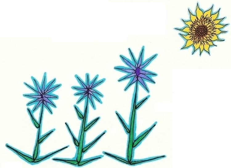 Study Flowers 3 - illustration - cheechwiz | ello