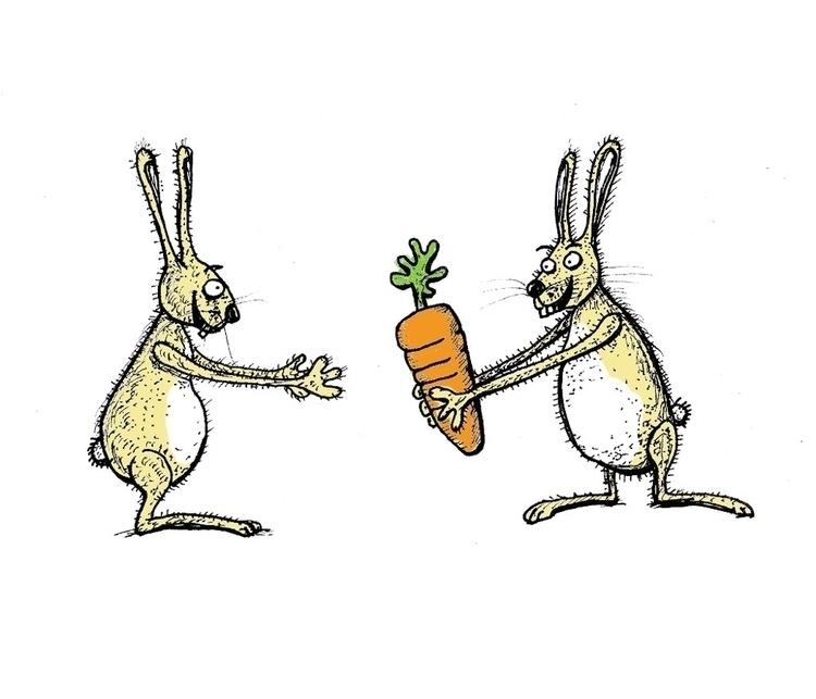 Friendship - illustration, drawing - rutgervandeelen   ello