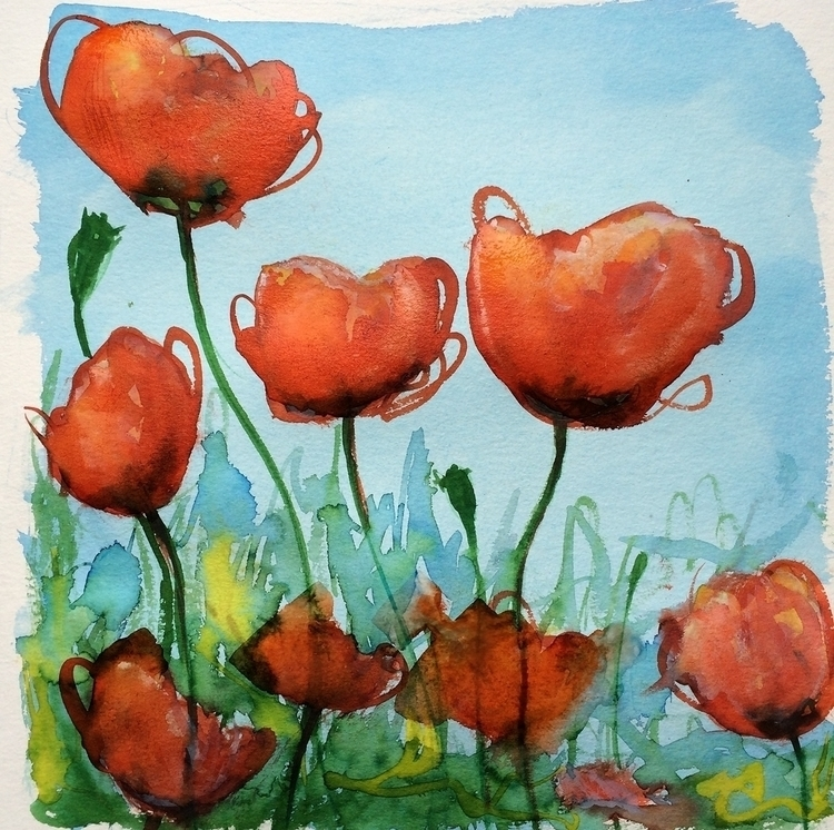 Poppies - illustration, poppies - rutgervandeelen | ello