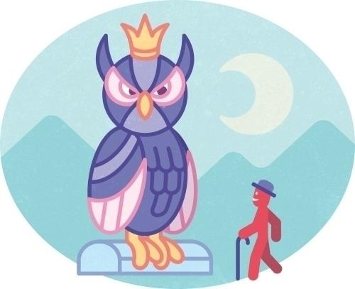 Olaf King Owls - illustration, vector - szokekissmarton-5412 | ello