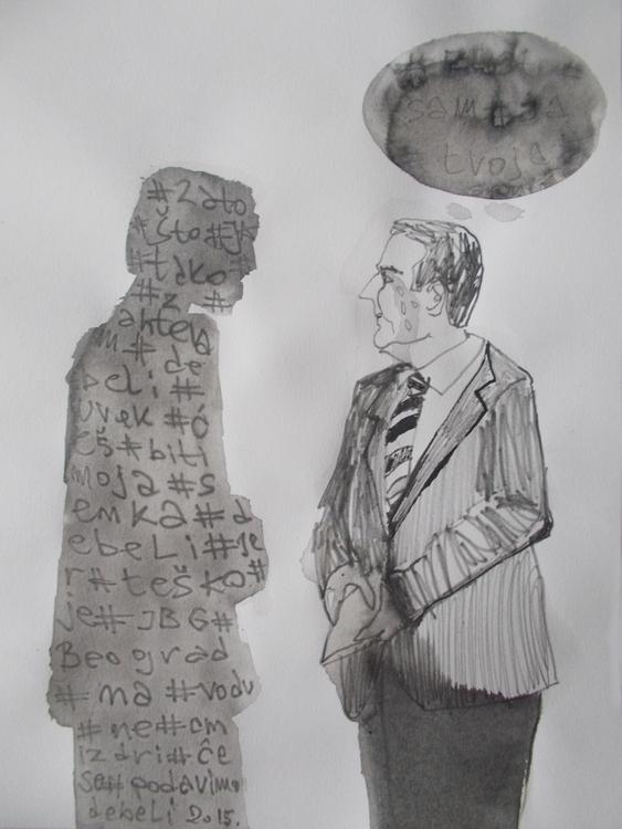 ,,Senka 3.''; grafit tuš na pap - ivanmitic   ello