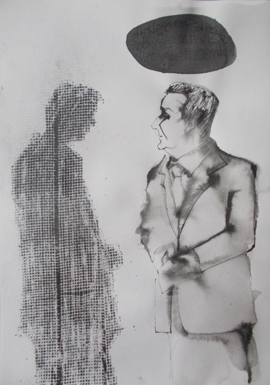 ,,Senka 5.''; grafit tuš na pap - ivanmitic | ello