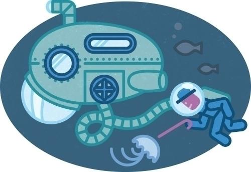 Olaf diving - illustration, icon - szokekissmarton-5412 | ello