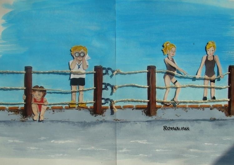 Sterk verhaal: aan dek - collage - rona-5961 | ello