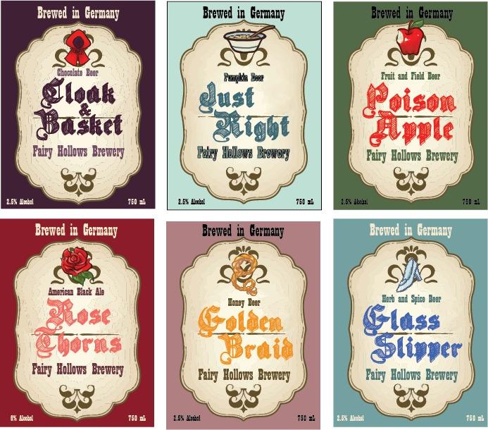 Fairytale beer labels - design, art - vshek   ello