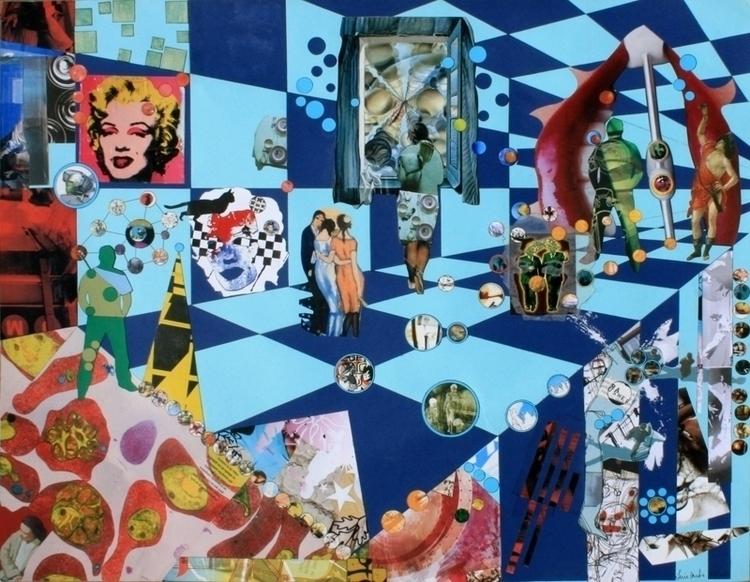 day museum. collage sobre cardb - luiyinoise   ello