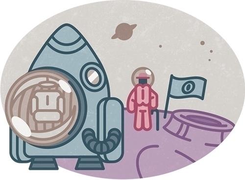 Olaf explores planets - mrolaf, illustration - szokekissmarton-5412 | ello