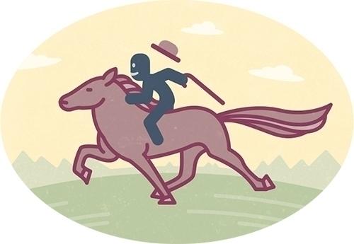 Olaf rides wild horse - illustration - szokekissmarton-5412 | ello