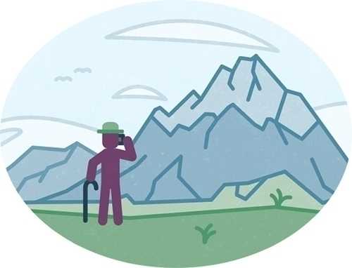 Olaf pictures mountains - illustration - szokekissmarton-5412 | ello