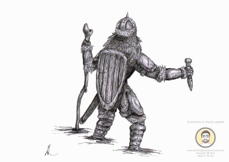 Pencil drawing wandering warrio - whistlingbear | ello