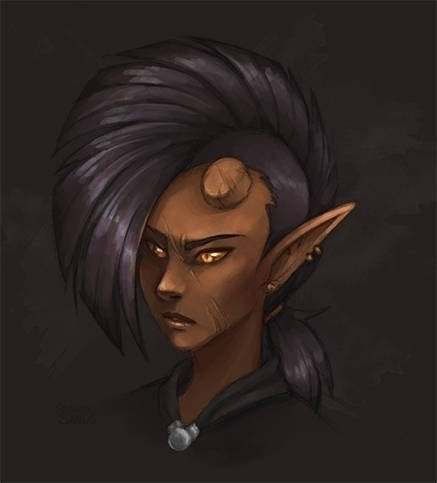 head shot Dnd Tiefling. decided - sketchingsands | ello